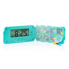 Tabtime Super 8 Daily Pill Reminder with 8 Alarms