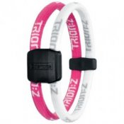 Trion Z Magnetic Sports Bracelet Dual Loop Pink and White