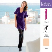 Venactif Evidence Microfibre AFNOR Class 2 Linen Thigh Compression Stockings