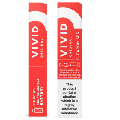 Vivid Original 1100 mAh Rechargeable Battery and Clearomiser Pack