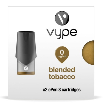 Vype ePen 3 Blended Tobacco Pods (Pack of 2 Refill Cartridges)