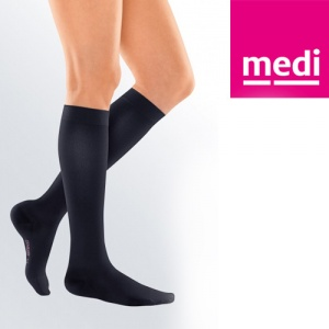Medi Black Travel Socks for Women