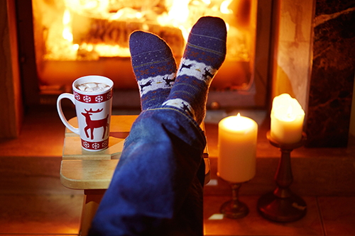 Thermal socks for cold feet in the winter