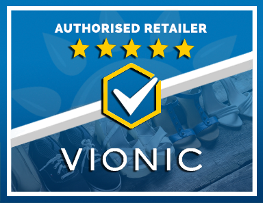 We Are an Authorised Retailer of Vionic Products